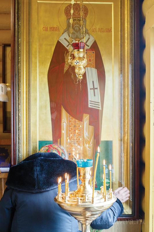 Уцелевший при пожаре образ святителя Луки Крымского