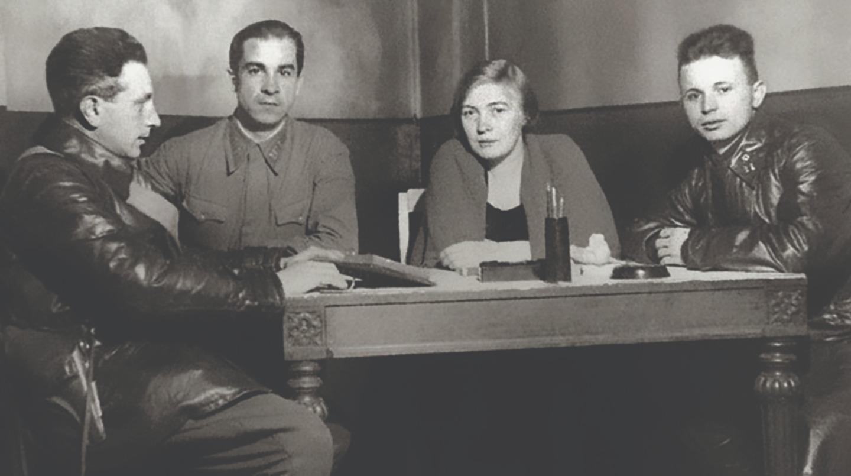Ольга Берггольц на фронте. Карельский перешеек. Февраль 1942 года
