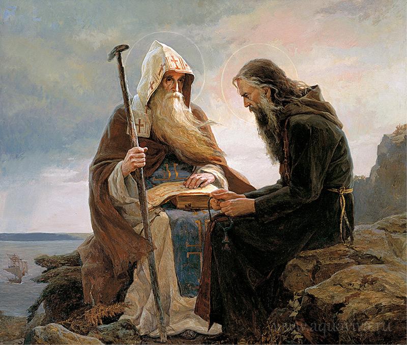 «Антоний и Феодосий Печерские». Сайда Афонина