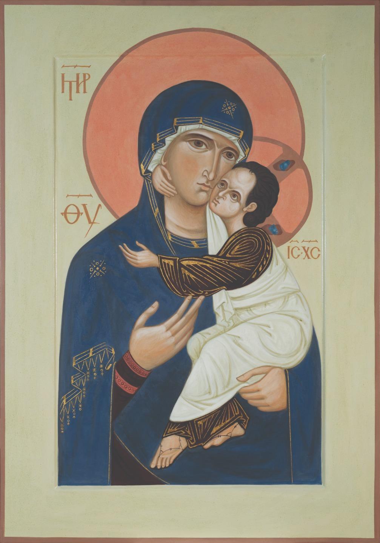Богоматерь Умиление. Иконостас храма святого Леонида в Ялкале