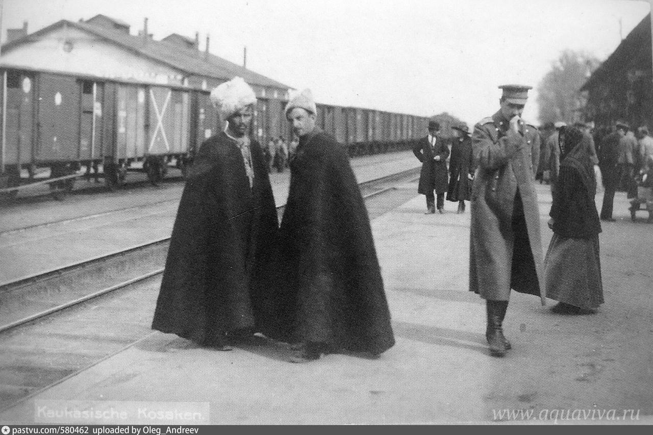 Белогвардейцы на перроне станции Одесса-Товарная. 1919 год