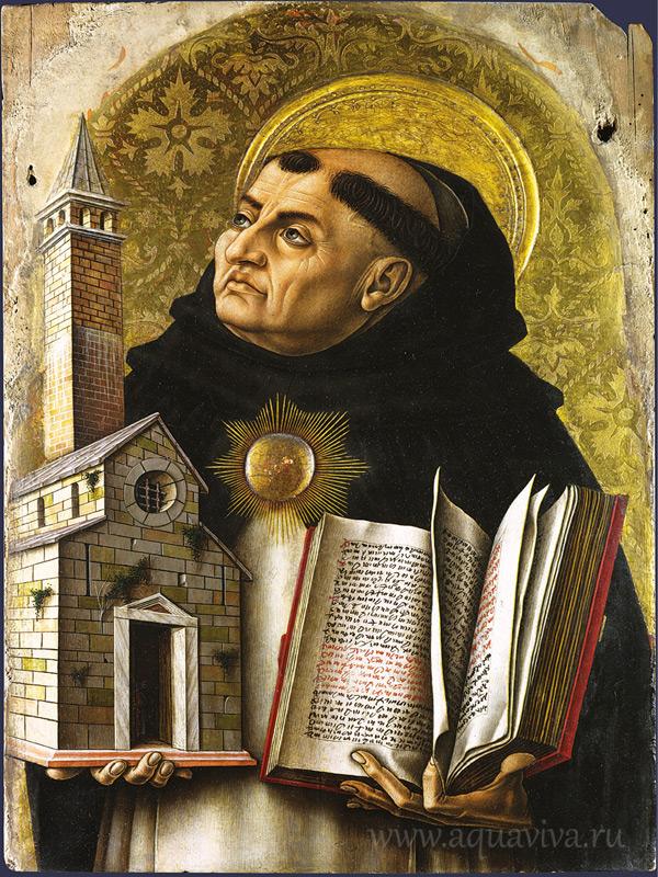 «Святой Фома Аквинский». Карло Кривелли. XV век.