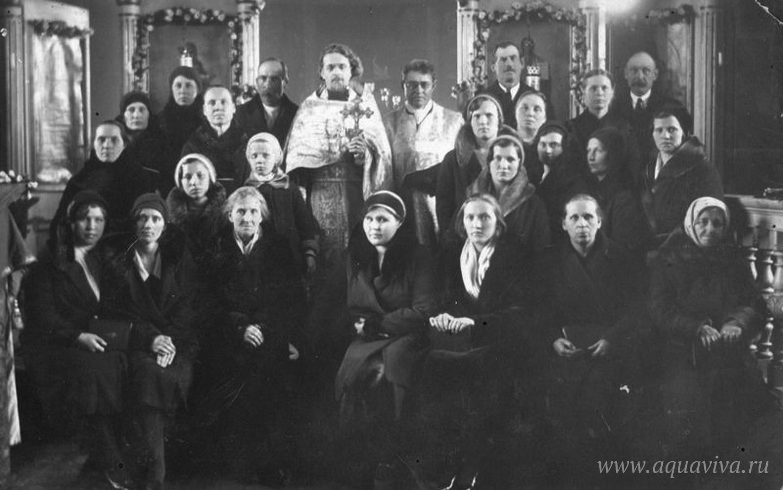 Прихожане латвийского православного прихода. Колка. 1930-е годы