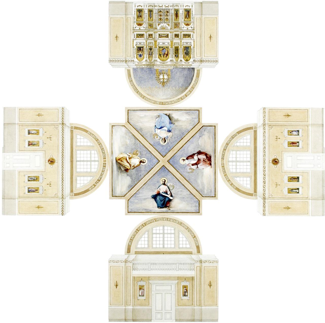 Проект интерьера молельного зала