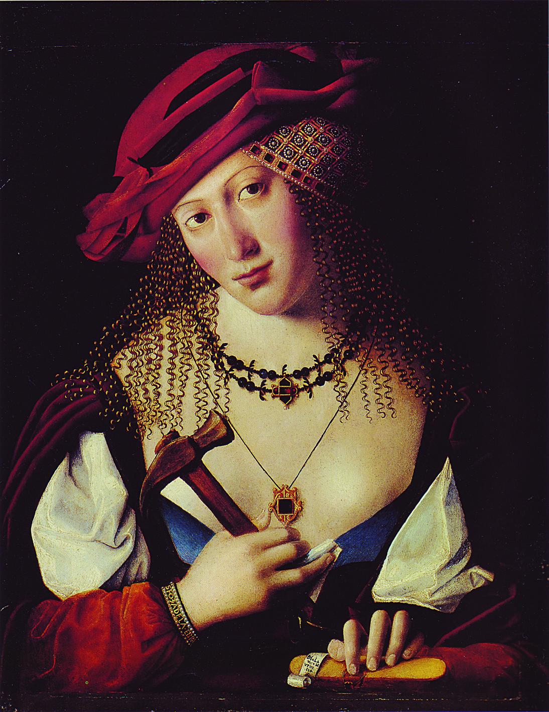 Бартоломео Венето. Портрет венецианской еврейки с атрибутами Иаили. Около 1500 года
