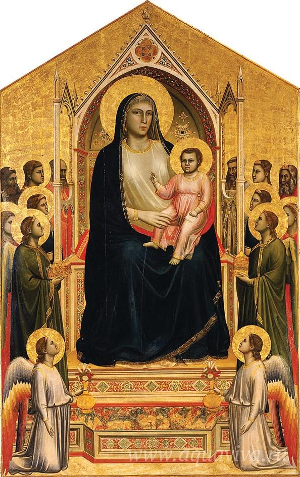 Джотто ди Бондоне. Мадонна на троне со святыми. 1306–1310 годы
