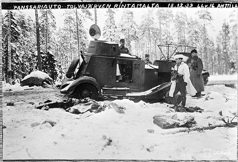 Захваченный финнами советский броневик. Толваярви. 18 декабря 1939 года