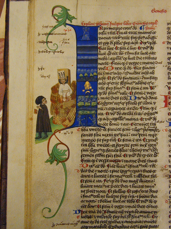 Самое раннее изображение Яна Гуса. Martinická bible (около 1430 г.)