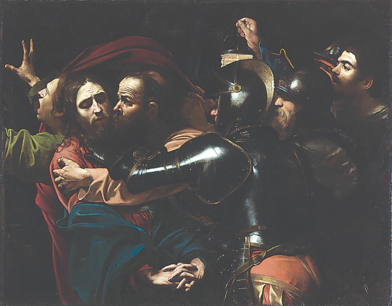 Караваджо (1571-1610). Взятие Христа под стражу