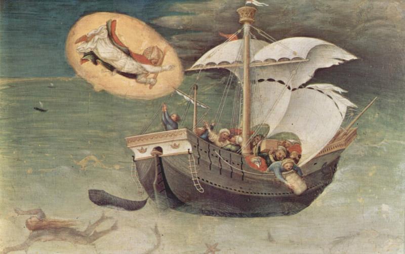 Спасение моряков. Джентиле да Фабриано, около 1425 г.
