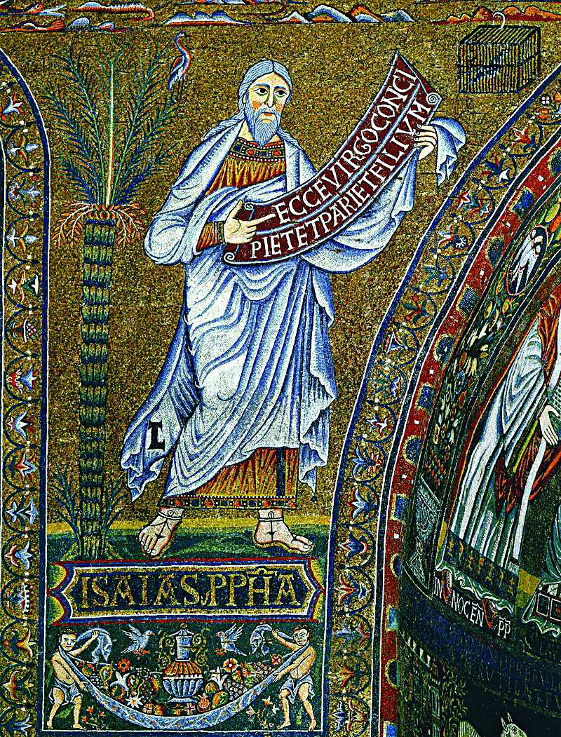 Пророк Исаия. Мозаика церкви Санта-Мария ин Трастевере. Рим. XII–XIII века