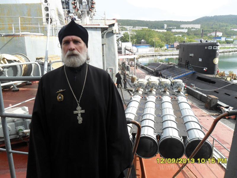 На флагмане Тихоокеанского флота «Адмирал Виноградов»