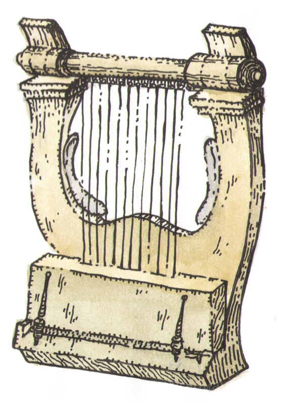 кифара (античная разновидность лиры)