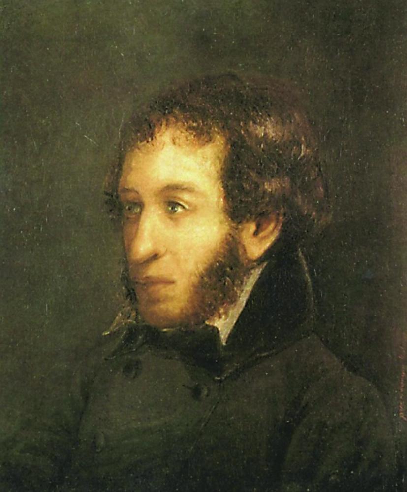 И. Линёв. Портрет А. С. Пушкина. 1836 год