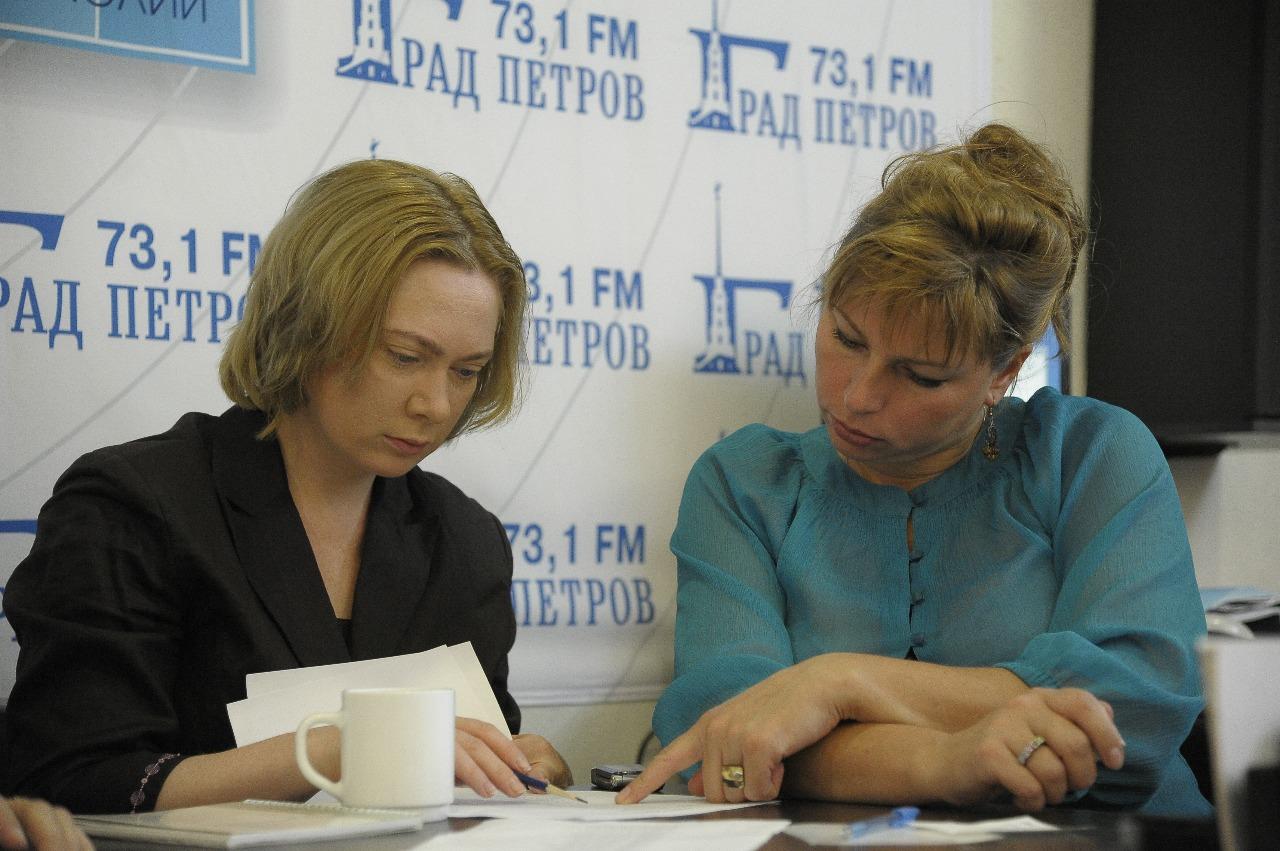 Марина Лобанова, автор и редактор нескольких исторических передач, и Елена Мазуренко