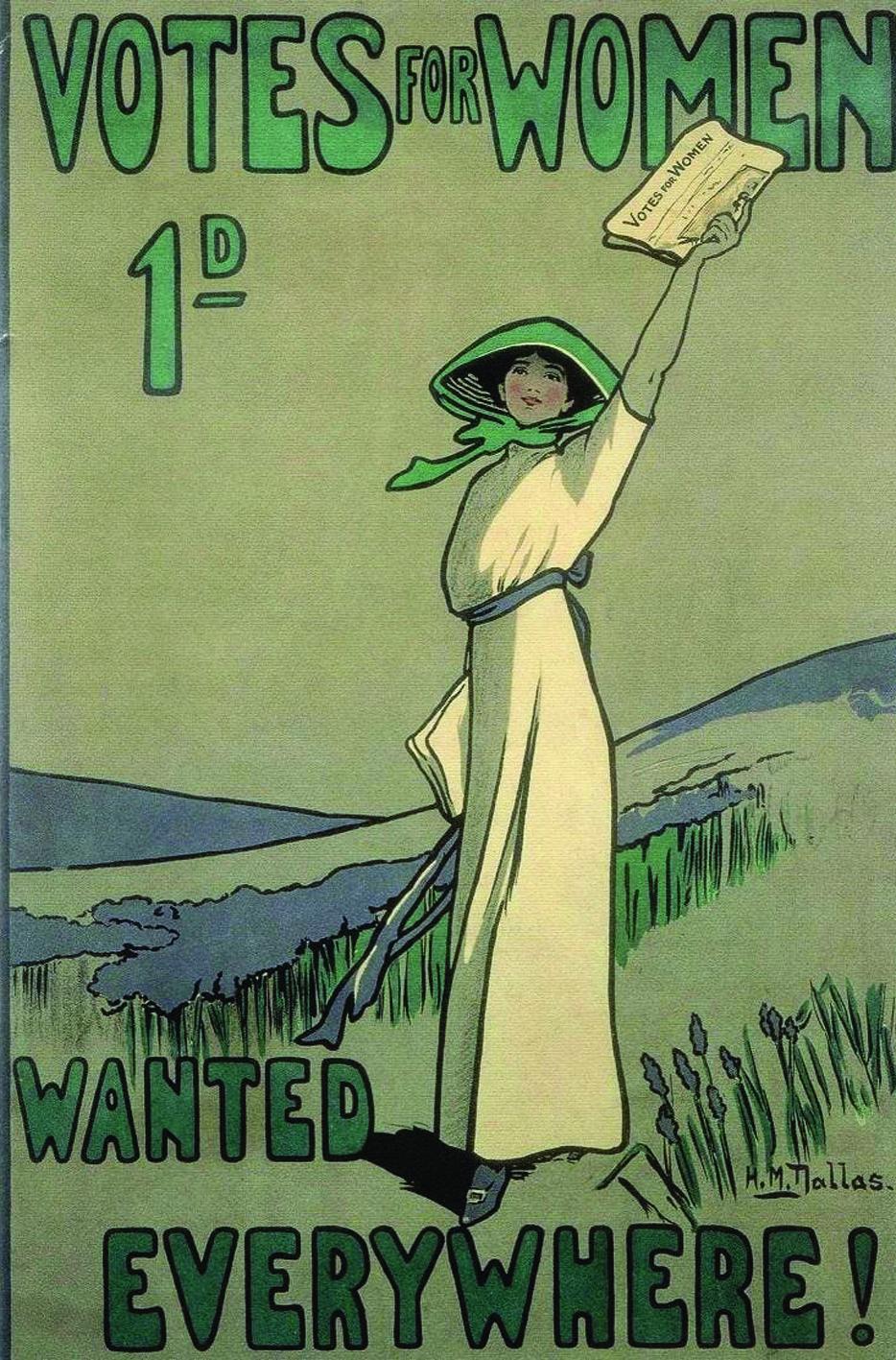 Хильда Даллас. Постер «Право голоса для женщин» для газеты с аналогичным названием. 1909 год