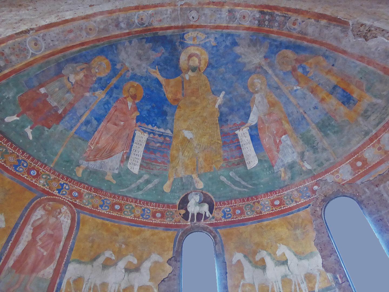 Искупитель святых. Фреска в базилике Сант-Элия. Кастель-Сант-Элия, Италия. X век