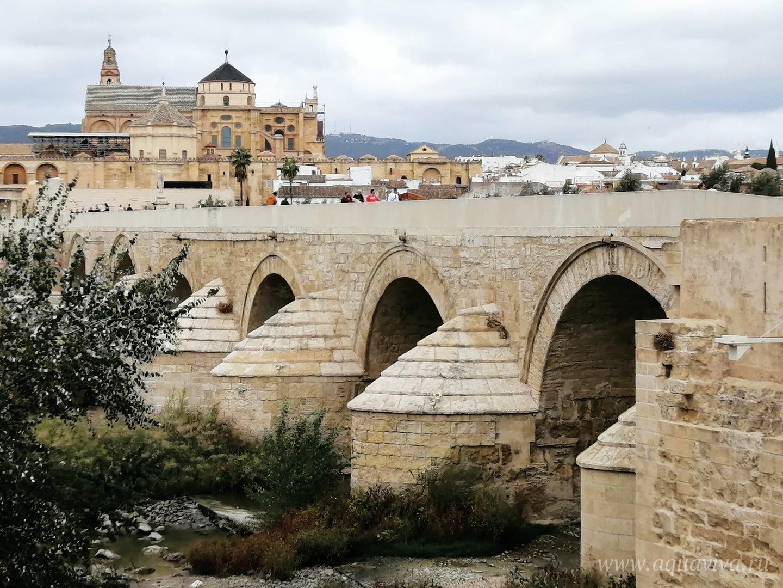 Вид на римский мост и Мескиту