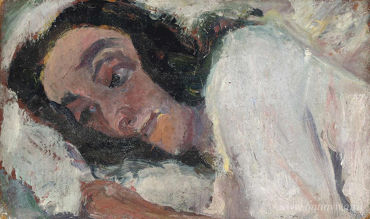 Хаим Сутин. Лежащая женщина. 1940 год