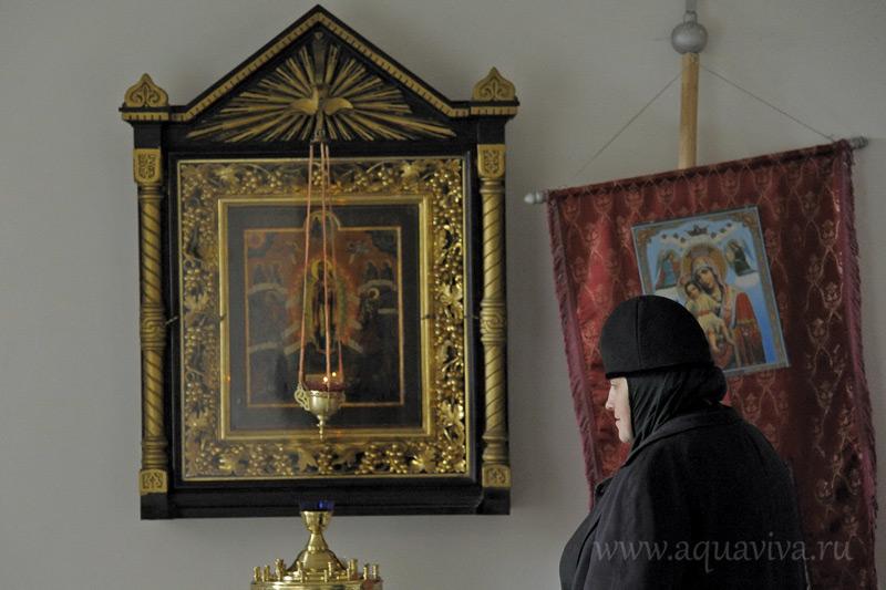 Главная святыня Пятогорского монастыря икона «Всех скорбящих радость» вернулась в обитель в феврале 2015 г.