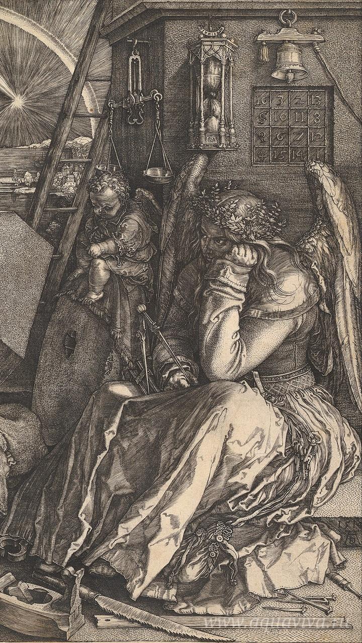 Альбрехт Дюрер. Меланхолия (гравюра). 1514 год
