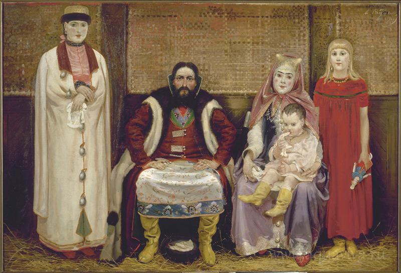 А.П. Рябушкин. «Семья купца в XVII веке» (1896)