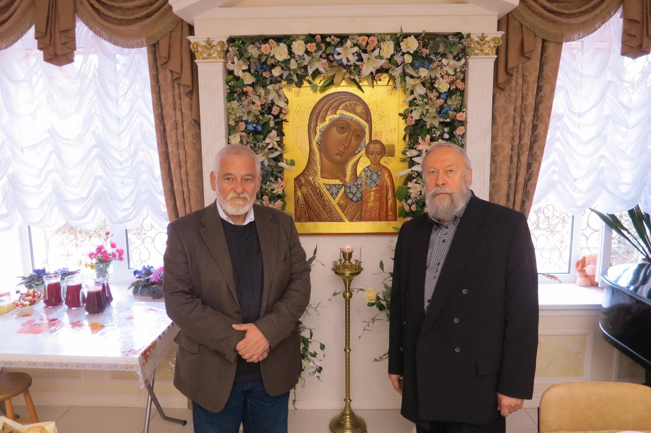 Валерий Филимонов с правнуком преподобного Геннадием Александровичем Муравьевым