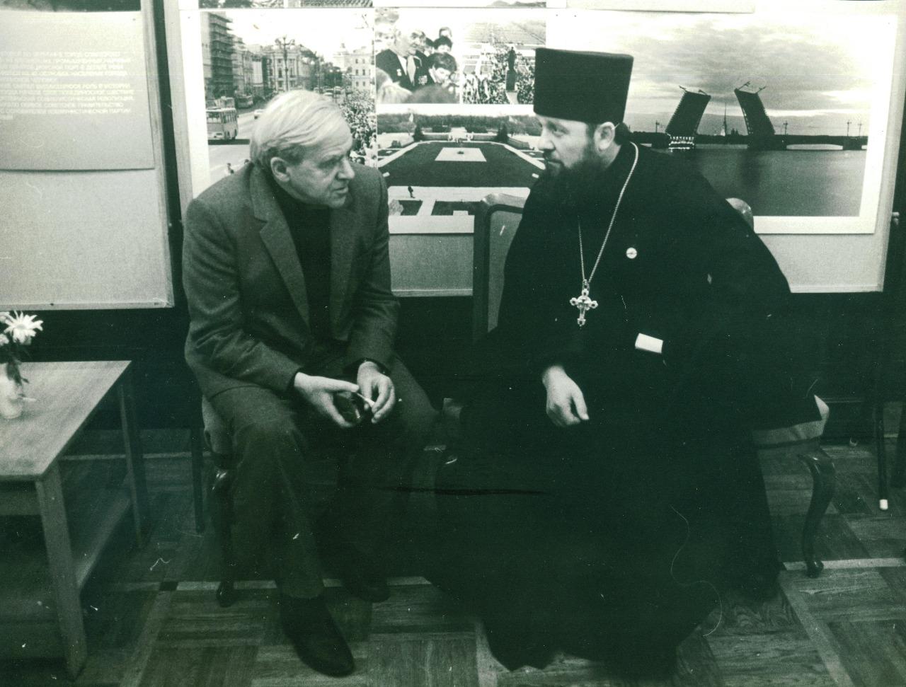Беседа с Даниилом Граниным в Доме Дружбы, Ленинград, 1988 год