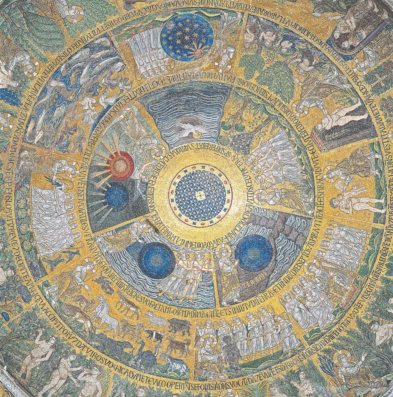 Семь дней творения. Купол базилики Сан-Марко. Венеция. XIII век