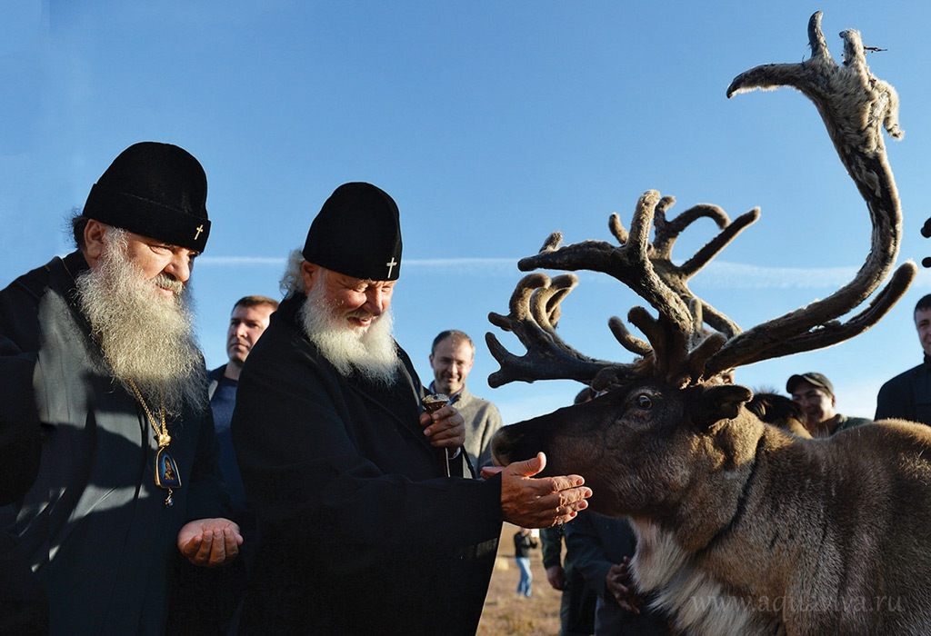 Патриарший визит в Анадырскую епархию. Посещение оленеводческой бригады в Канчаланском районе Чукотки. 2016 год