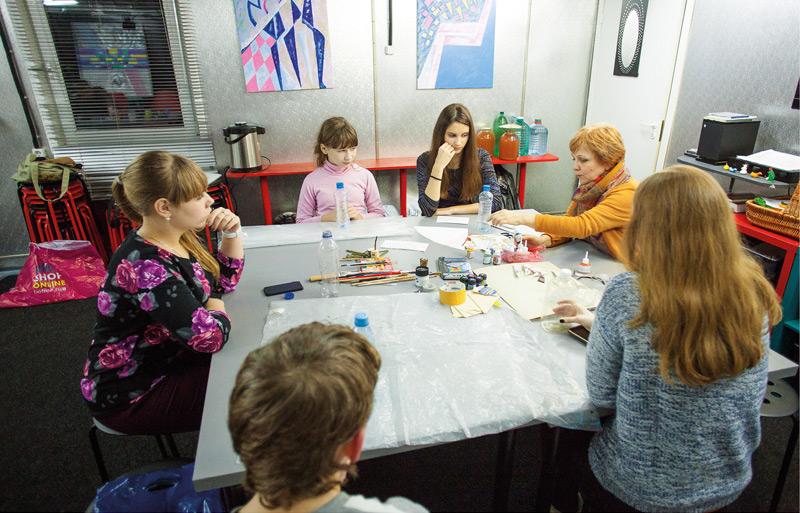 Творчество на занятиях приходской арт-студии не самоцель, а только метод
