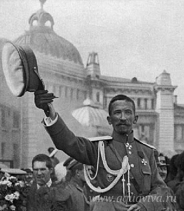 Генерал Л.Г. Корнилов, в 1917 году Верховный главнокомандующий войсками Временного правительства