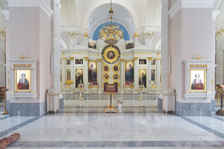 И внешний и внутренний облик храма воссоздали максимально близкими к первоначальной задумке архитектора Петра Егорова