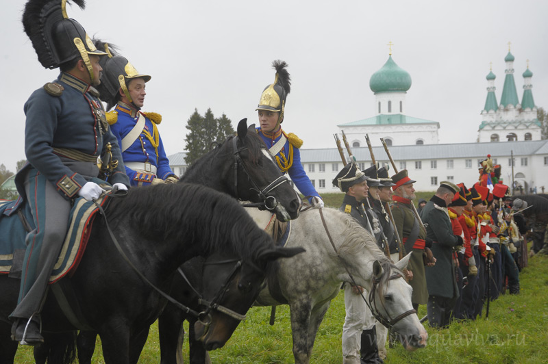 Прошедшая в Александро-Свирском монастыре постановка в честь 200-летия Бородинского сражения (сентябрь 2012 года )