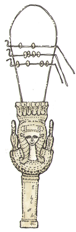 древнеегипетский систр из собрания Лувра