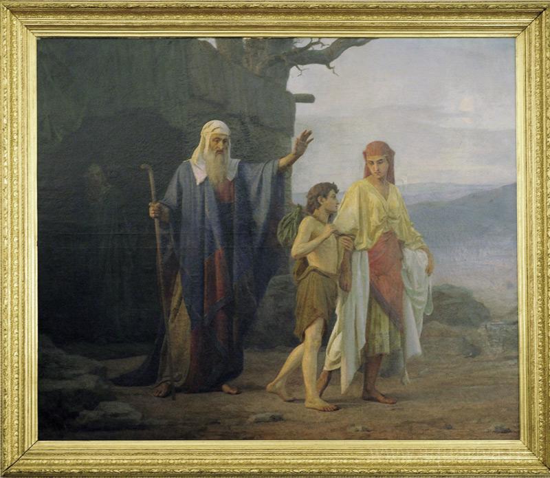 «Авраам изгоняет из дома Агарь с сыном ее Измаилом» Козьма Кудрявцев