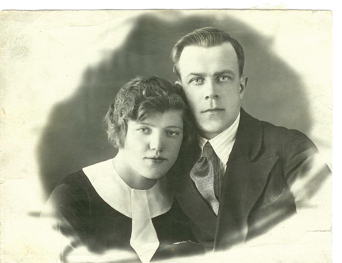 Константин Философович и Клавдия Иосифовна в молодости