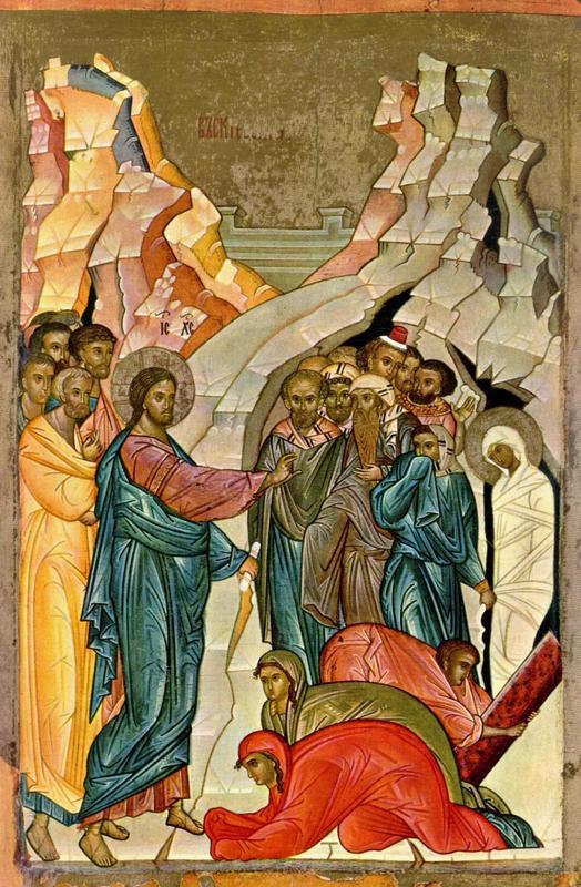 Воскрешение Лазаря. Начало XV в., Новгород