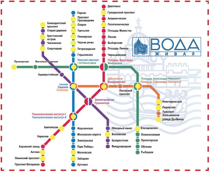 Киоски на схеме метро